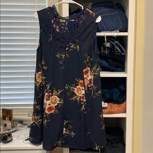 Umgee floral swing dress